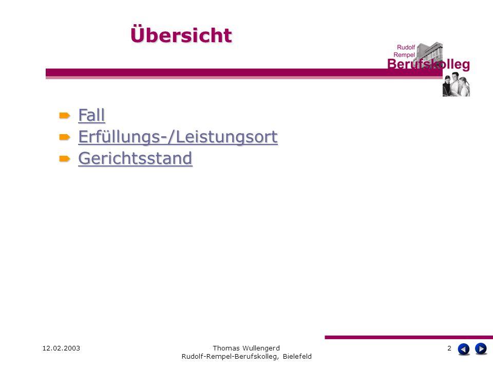 12.02.2003Thomas Wullengerd Rudolf-Rempel-Berufskolleg, Bielefeld 3 Ein Kunde hat in der Apotheke ein elektrisches Massagegerät Omron E 3 TENS für 85,00 über das Internet bestellt.