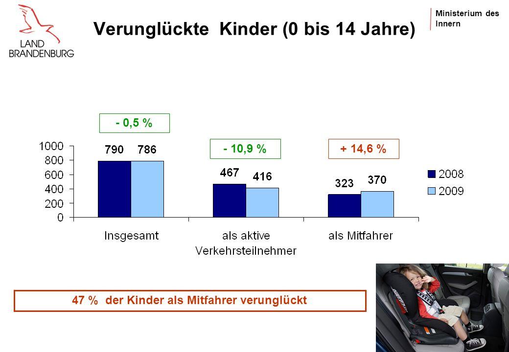 Ministerium des Innern Junge Fahrer (18 bis 24 Jahre) - 4,7 % - 42,7 % - 43,7 %