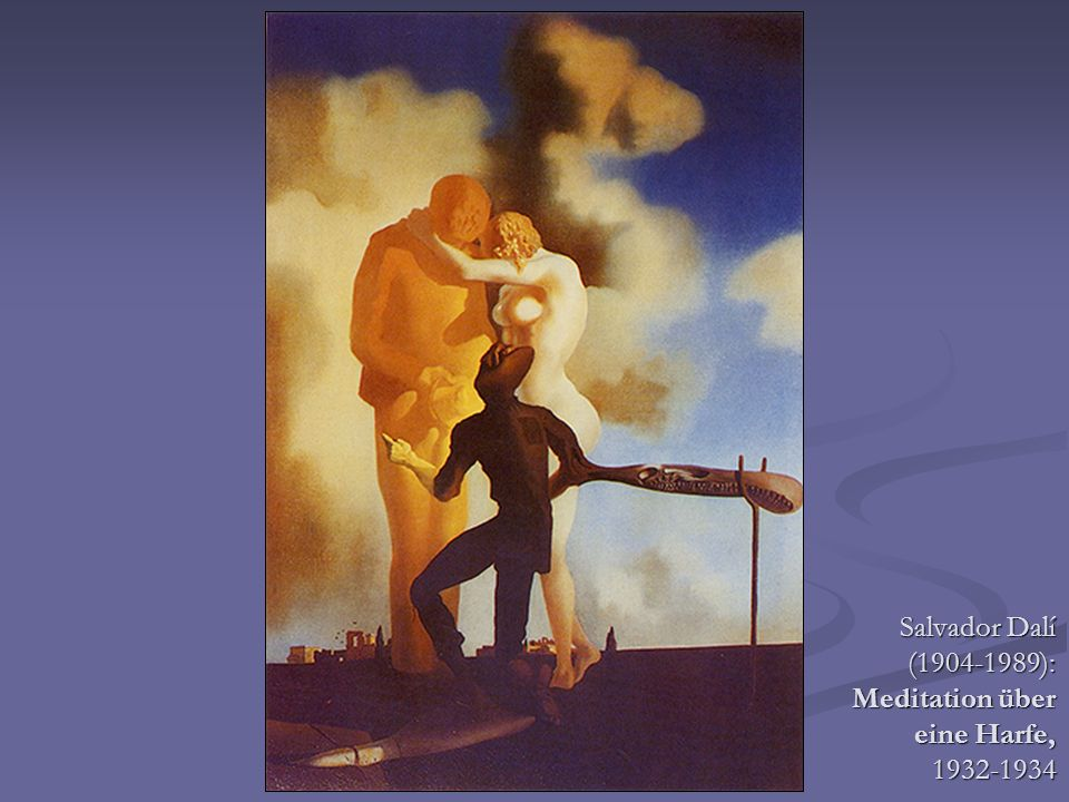 Salvador Dalí (1904-1989): Meditation über eine Harfe, 1932-1934