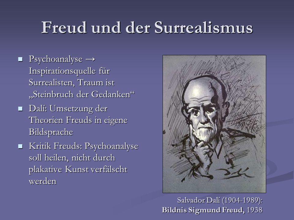 Freud und der Surrealismus Psychoanalyse Inspirationsquelle für Surrealisten, Traum ist Steinbruch der Gedanken Psychoanalyse Inspirationsquelle für S