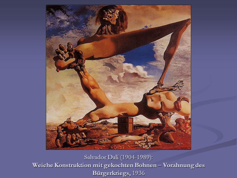 Salvador Dalí (1904-1989): Weiche Konstruktion mit gekochten Bohnen – Vorahnung des Bürgerkriegs, 1936