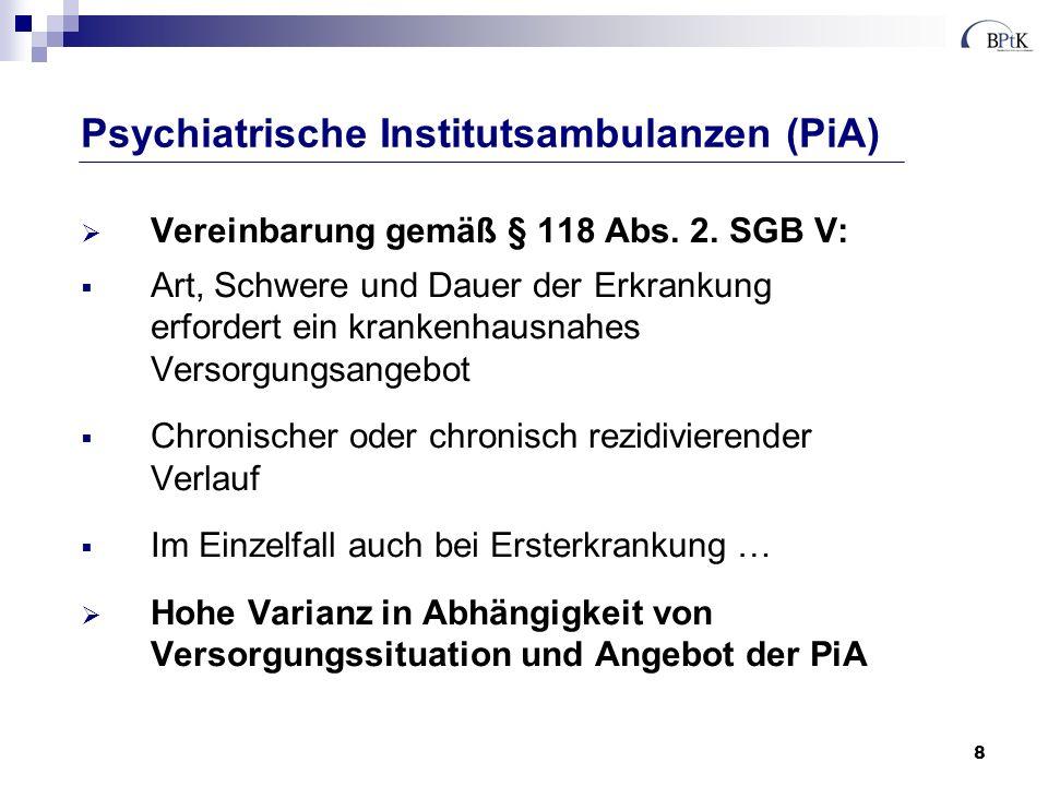 9 psychiatrisch-psychotherapeutische Komplexleistung Psychotherapie entsprechend der Richtlinien des G-BA ggf.