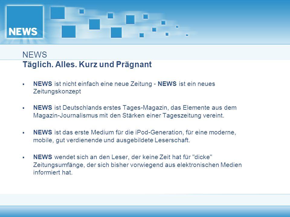 NEWS liefert Orientierung Durchgängig in allen Ressorts finden sich interaktive Elemente.