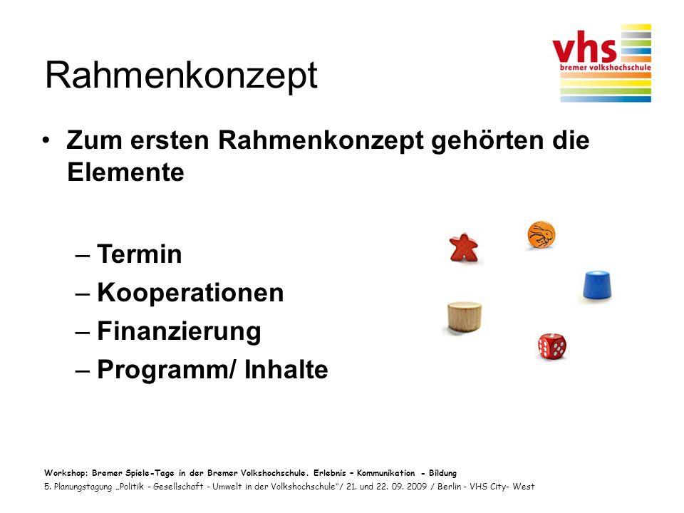 Workshop: Bremer Spiele-Tage in der Bremer Volkshochschule.
