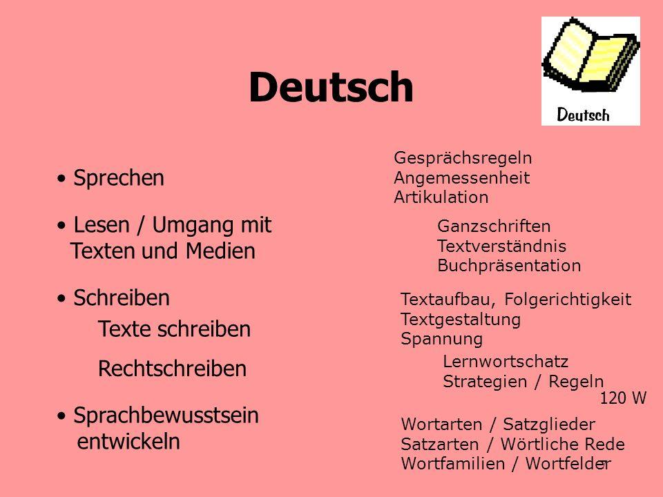 8 Notengebung - Deutsch