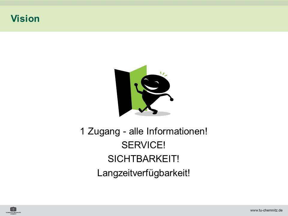 1 Zugang - alle Informationen! SERVICE! SICHTBARKEIT! Langzeitverfügbarkeit! Vision