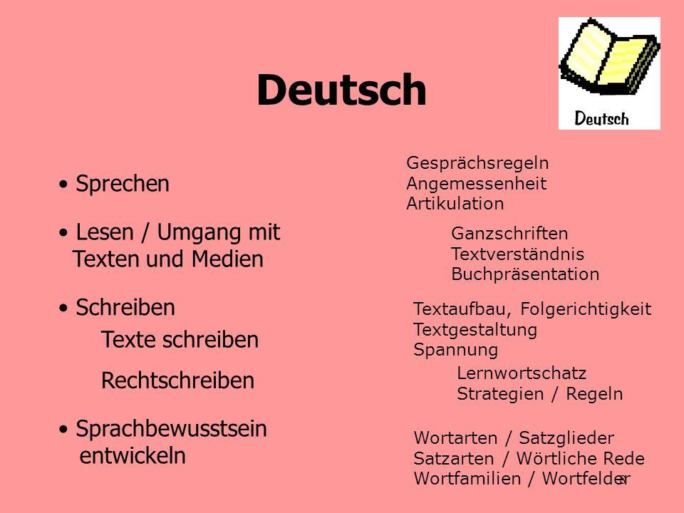 9 Notengebung - Deutsch