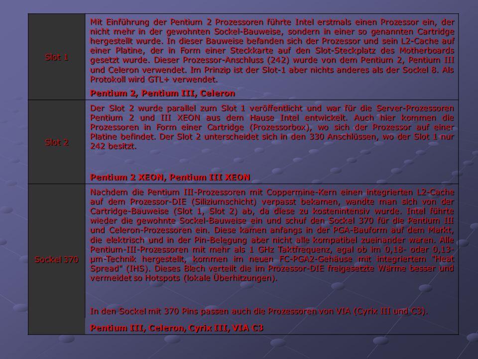Slot A Der Slot A ist der erste eigene Prozessorsteckplatz aus dem Hause AMD.