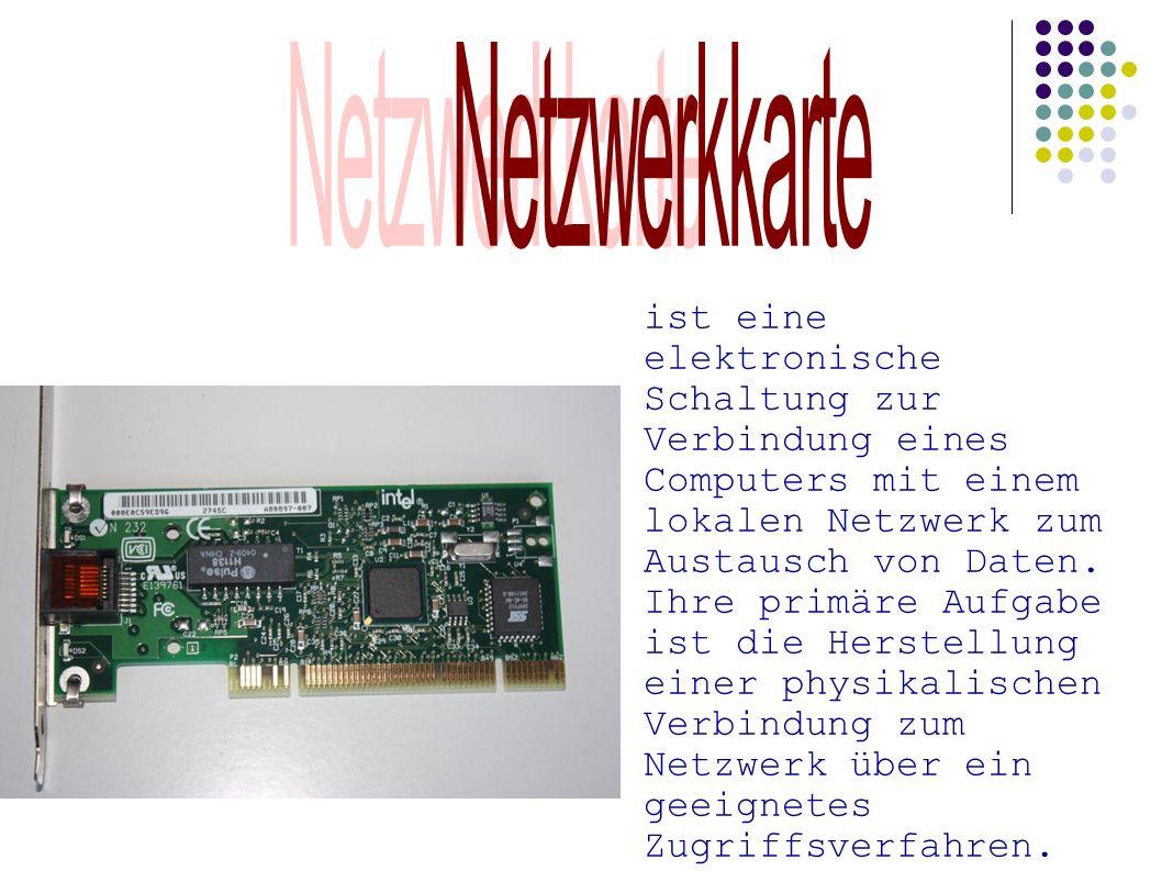 ist eine elektronische Schaltung zur Verbindung eines Computers mit einem lokalen Netzwerk zum Austausch von Daten. Ihre primäre Aufgabe ist die Herst