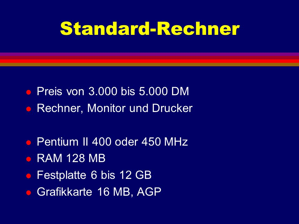 Standard-PC IV/1997