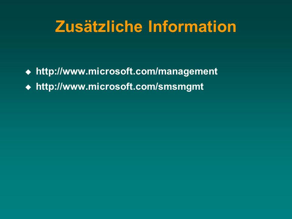 http://www.microsoft.com/management http://www.microsoft.com/smsmgmt Zusätzliche Information