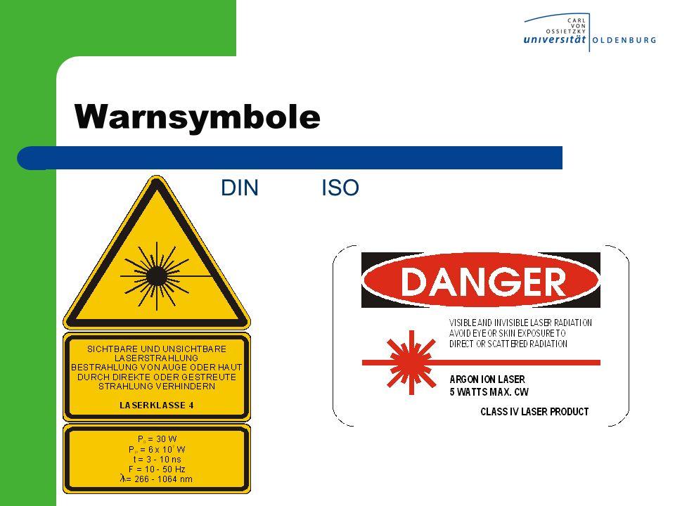 Warnsymbole DIN ISO