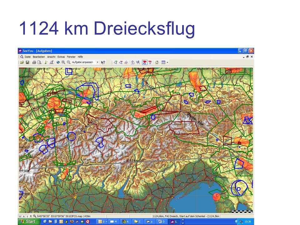 1124 km Dreiecksflug