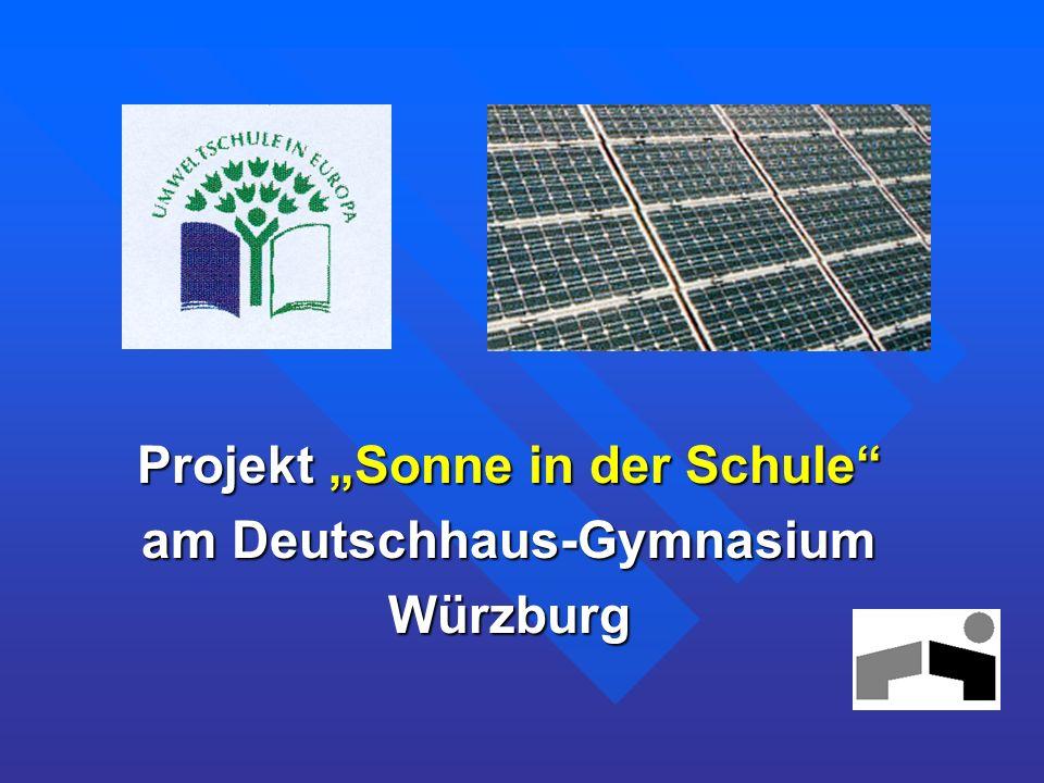 Projekt Sonne in der Schule am Deutschhaus-Gymnasium Würzburg