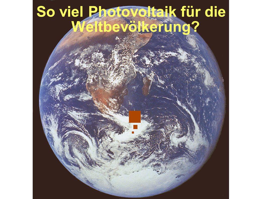 So viel Photovoltaik für die Weltbevölkerung?