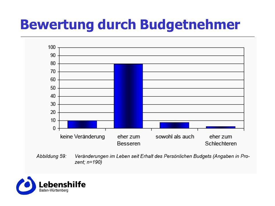Bewertung durch Budgetnehmer