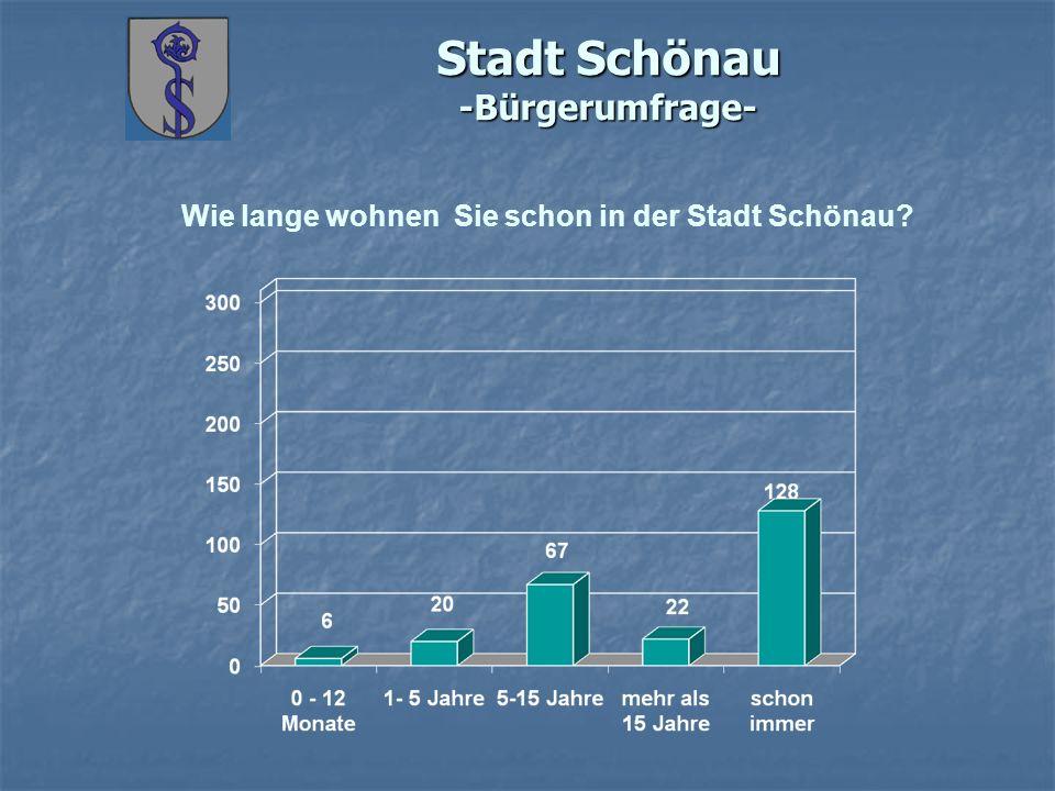 Stadt Schönau -Bürgerumfrage- Wie lange wohnen Sie schon in der Stadt Schönau
