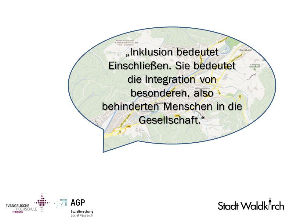 Inklusion bedeutet Einschließen. Sie bedeutet die Integration von besonderen, also behinderten Menschen in die Gesellschaft.