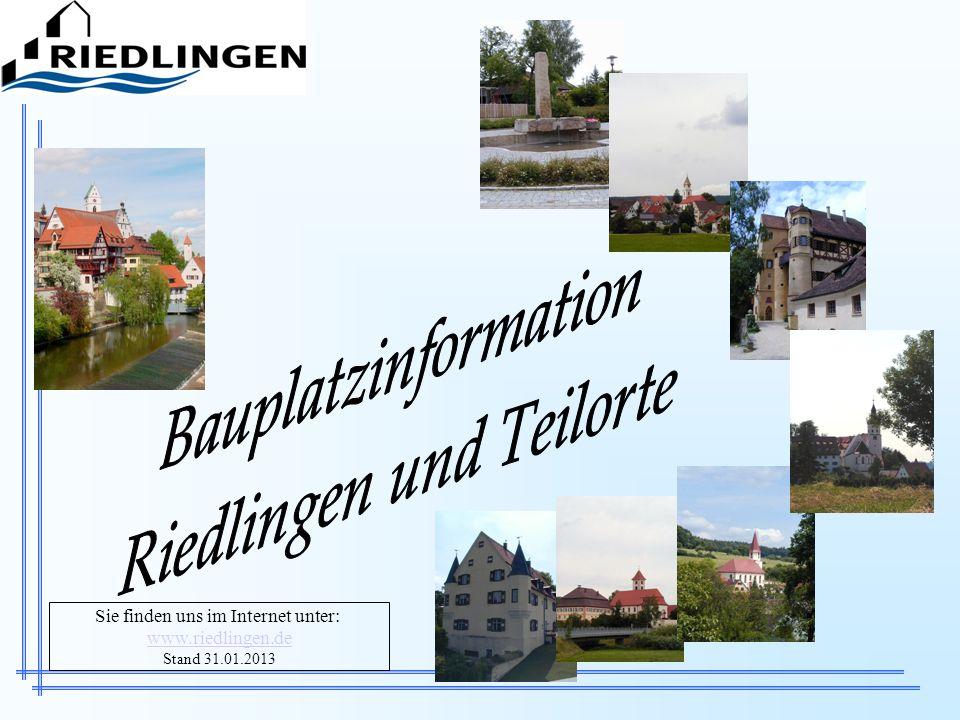 Sie finden uns im Internet unter: www.riedlingen.de Stand 31.01.2013