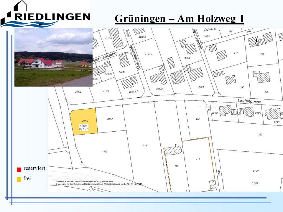 Grüningen – Am Holzweg I reserviert frei