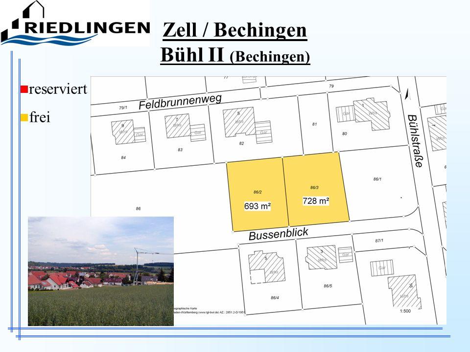 Zell / Bechingen Bühl II (Bechingen) reserviert frei