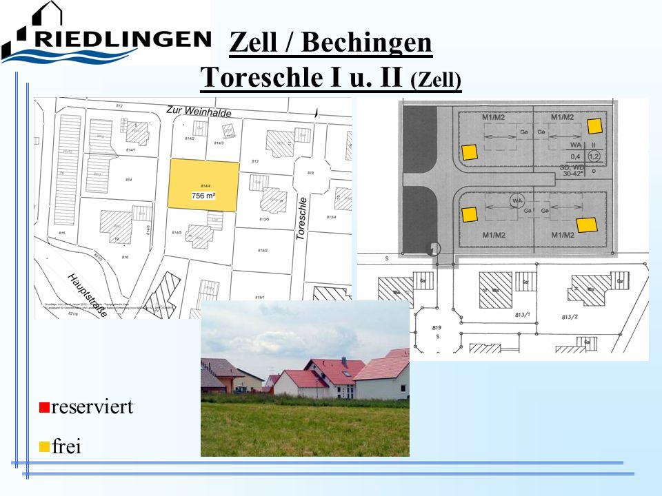Zell / Bechingen Toreschle I u. II (Zell) reserviert frei