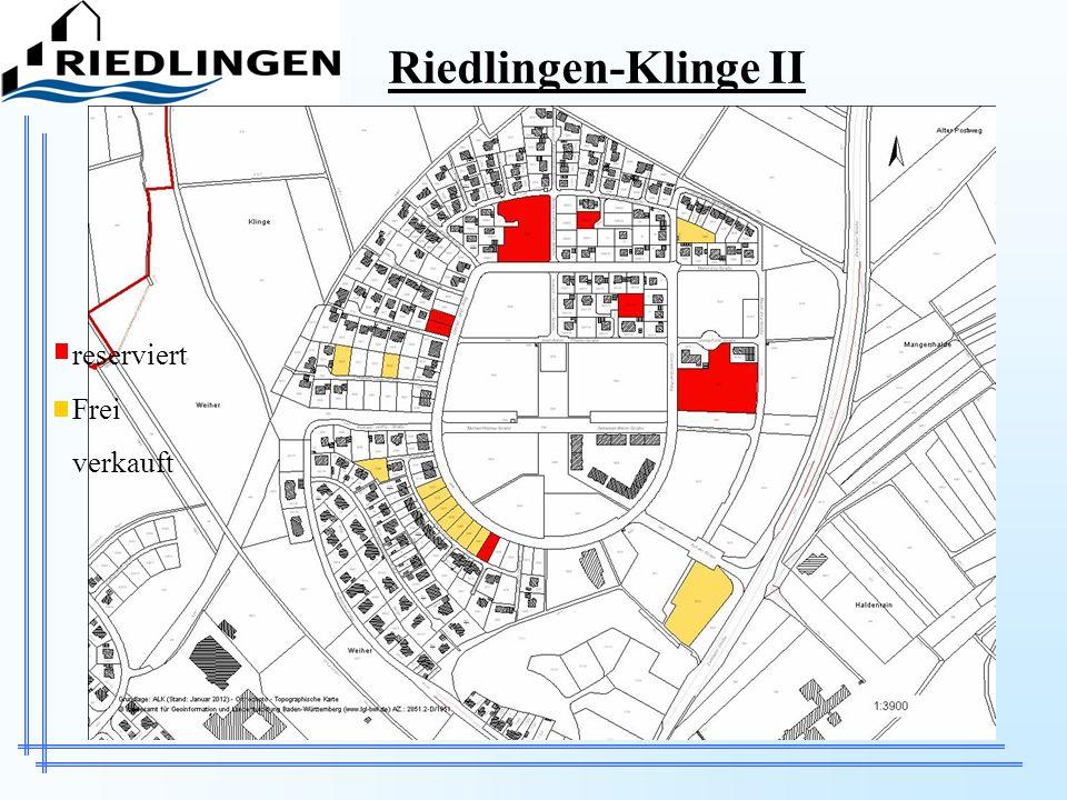 Riedlingen-Klinge II reserviert Frei verkauft