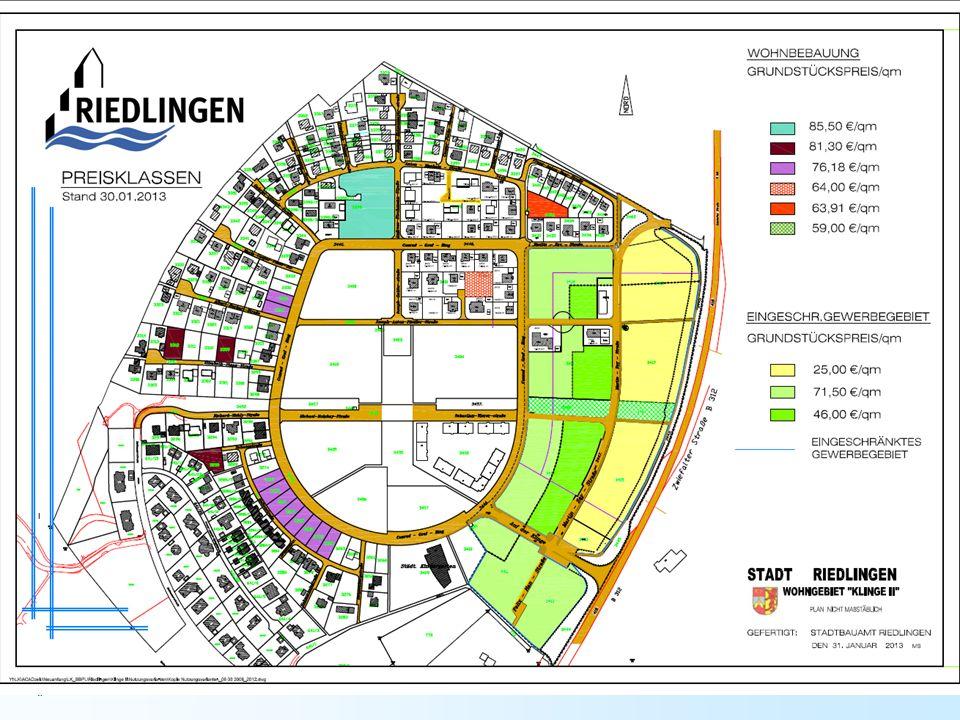 Verkaufsinformationen zu den Wohnbauplätzen in Zell/Bechingen a) Baugebiet Bühl II Verkaufspreis pro m² Grundstücksfläche:28,53 /m² Ablösungsbeitrag auf den Erschließungsbeitrag:12,47 /m² 41,00 /m² In diesem Kaufpreis ist enthalten: der Beitrag nach dem Baugesetzbuch (Erschließungsbeitrag), der Wasserversorgungsbeitrag, der Teilbeitrag für den öffentlichen Abwasserkanal, der Teilbeitrag für den mechanischen und biologischen Teil des Klärwerkes.