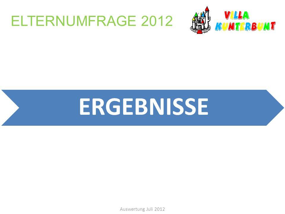 ELTERNUMFRAGE 2012 Auswertung Juli 2012 ERGEBNISSE