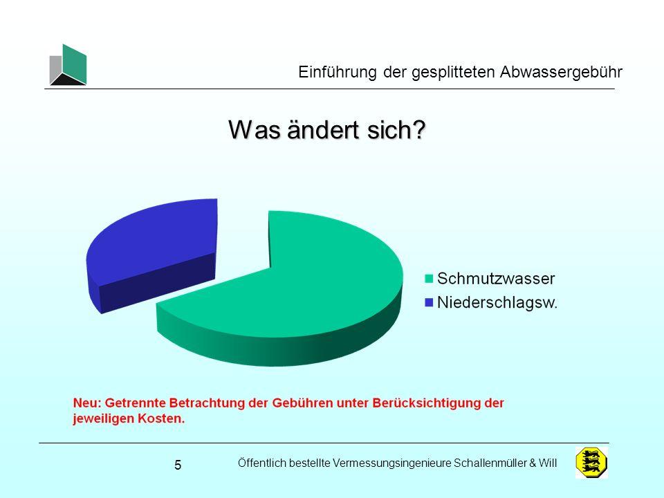 Öffentlich bestellte Vermessungsingenieure Schallenmüller & Will Einführung der gesplitteten Abwassergebühr Was ändert sich? 5