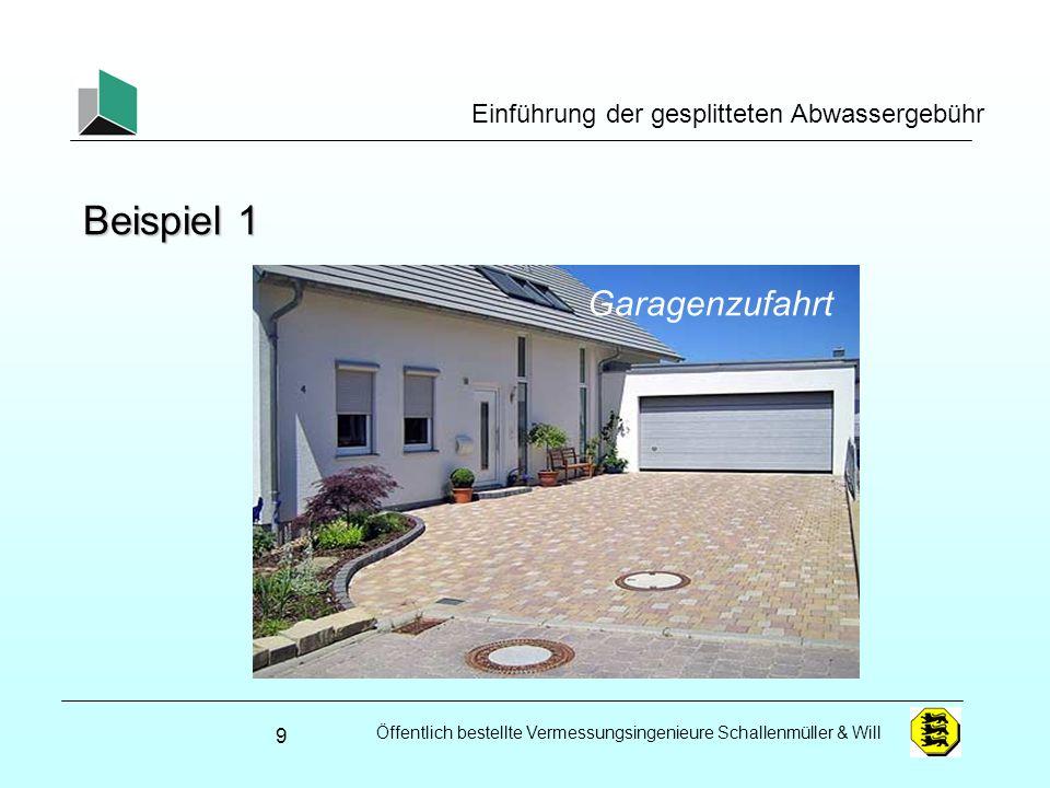 Öffentlich bestellte Vermessungsingenieure Schallenmüller & Will Einführung der gesplitteten Abwassergebühr Versiegelungsfaktoren (Mustersatzung GT) 40
