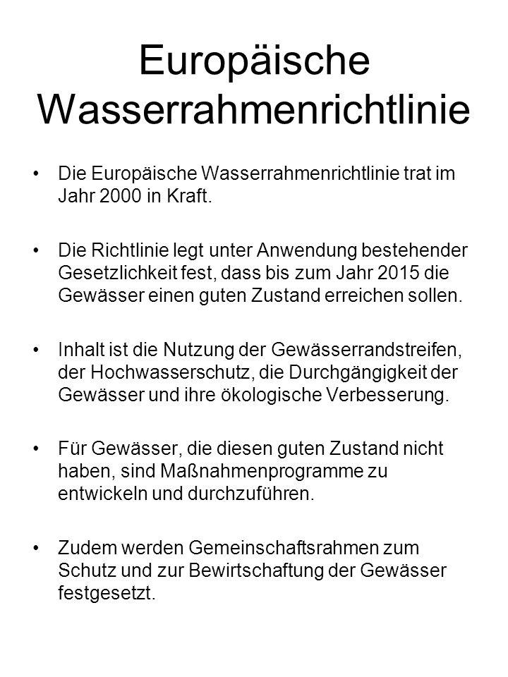 Wasserhaushaltsgesetz (WHG) Das Wasserhaushaltsgesetz bildet des Hauptteil des deutschen Wasserrechts und ist seit 2009 in seiner neusten Fassung gültig.