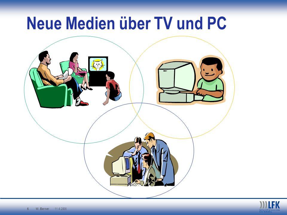 W. Berner 11.4.2006 6 Neue Medien über TV und PC