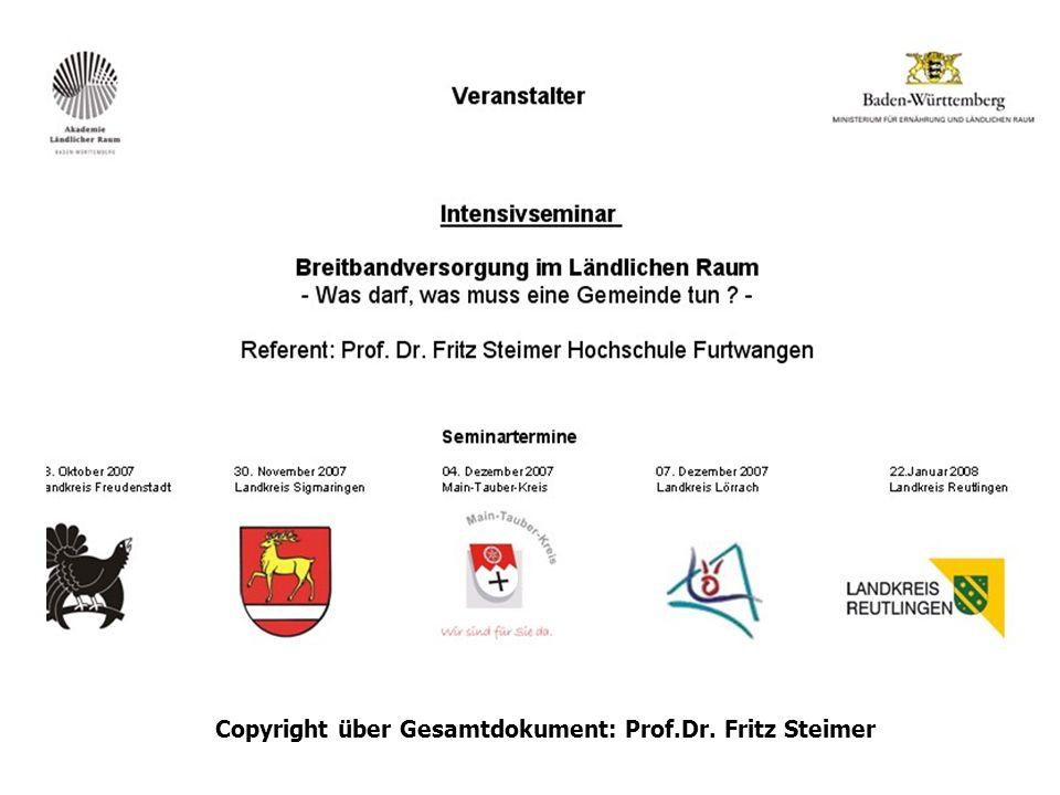 Copyright über Gesamtdokument: Prof.Dr. Fritz Steimer