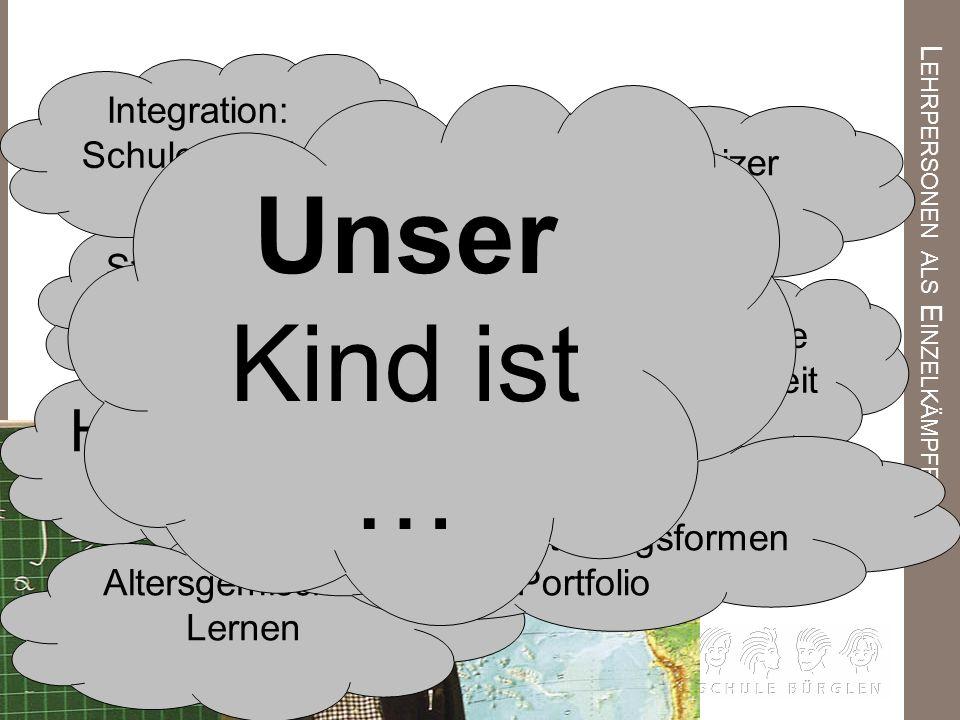 L EHRPERSONEN ALS E INZELKÄMPFER HaromS Deutschschweizer Lehrplan Stellwerk 8 Integration: Schule für alle Klassencockpit schulische Sozialarbeit Stel