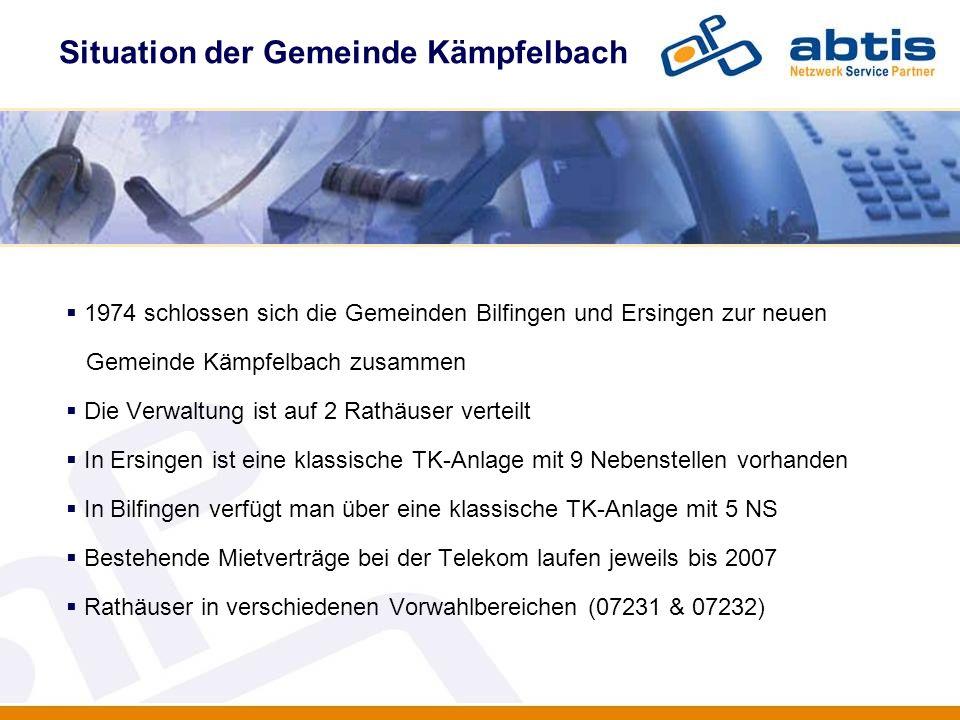 Situation der Gemeinde Kämpfelbach IT - Security 1974 schlossen sich die Gemeinden Bilfingen und Ersingen zur neuen Gemeinde Kämpfelbach zusammen Die