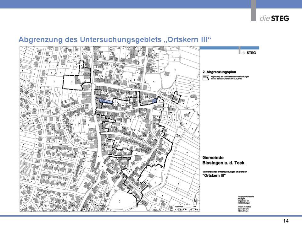 14 Abgrenzung des Untersuchungsgebiets Ortskern III