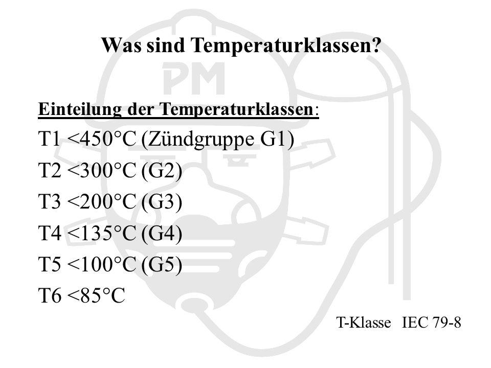 Was sind Temperaturklassen.