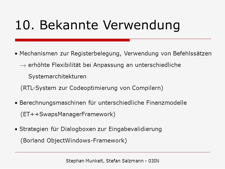 10. Bekannte Verwendung Stephan Munkelt, Stefan Salzmann - 03IN Mechanismen zur Registerbelegung, Verwendung von Befehlssätzen erhöhte Flexibilität be