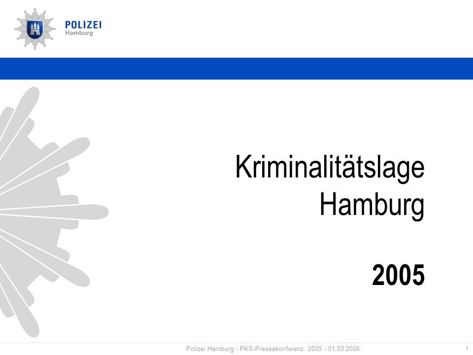1 Polizei Hamburg - PKS-Pressekonferenz 2005 - 01.03.2006 Kriminalitätslage Hamburg 2005
