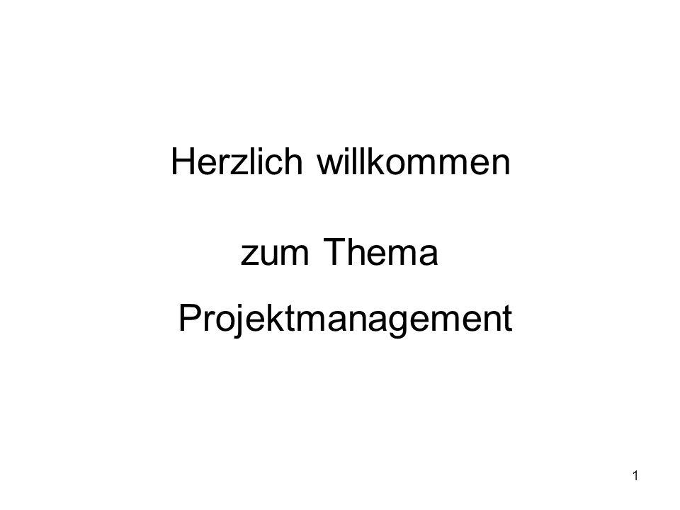 1 Herzlich willkommen zum Thema Projektmanagement