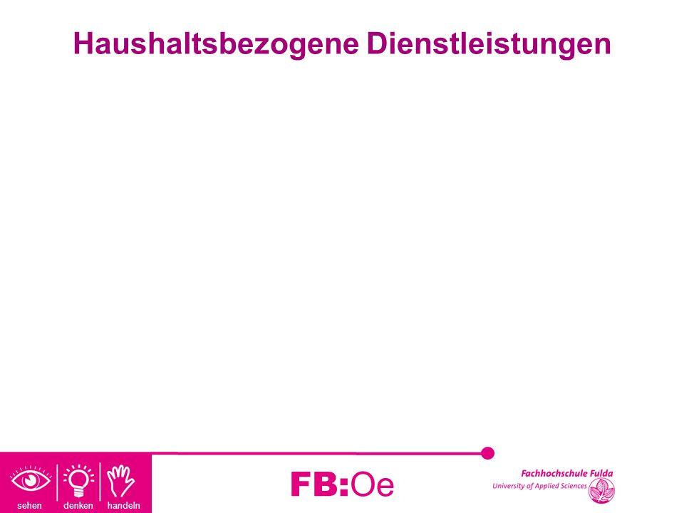 sehen denken handeln FB:Oe Haushaltsbezogene Dienstleistungen