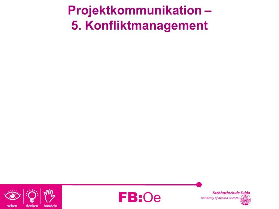 sehen denken handeln FB:Oe Projektkommunikation – 5. Konfliktmanagement