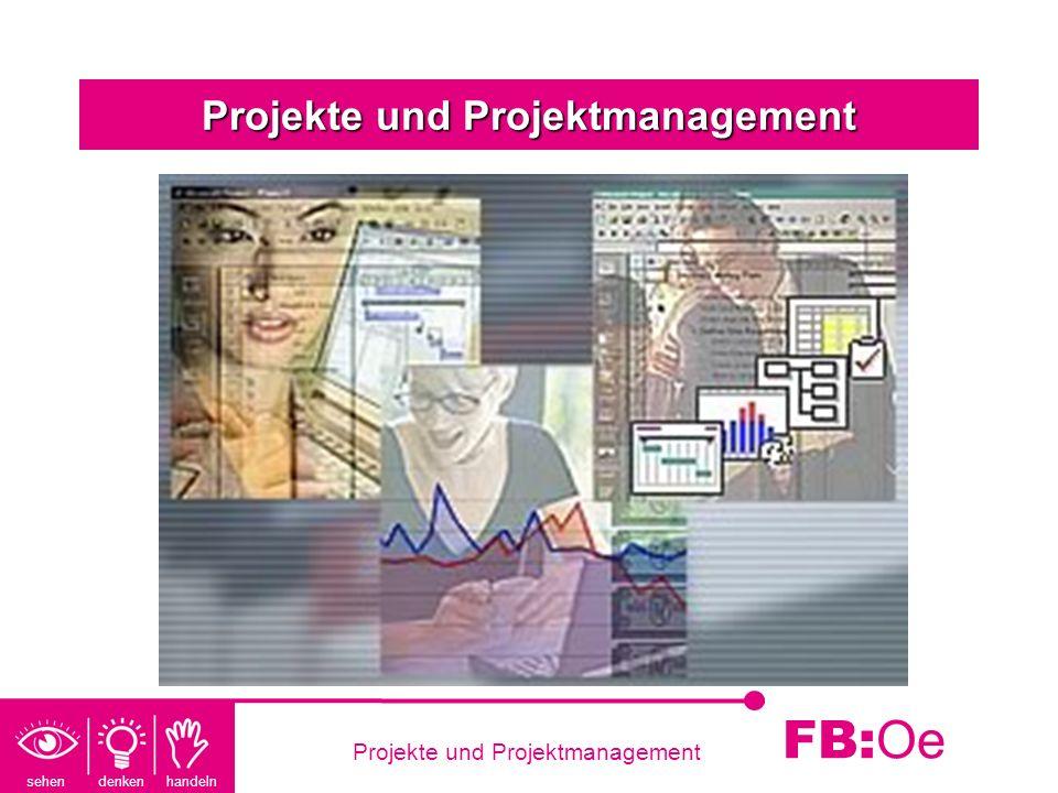 sehen denken handeln FB: Oe Projekte und ProjektmanagementProjekt Was ist ein Projekt.