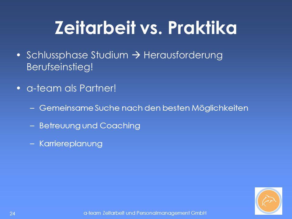 a-team Zeitarbeit und Personalmanagement GmbH 24 Zeitarbeit vs.