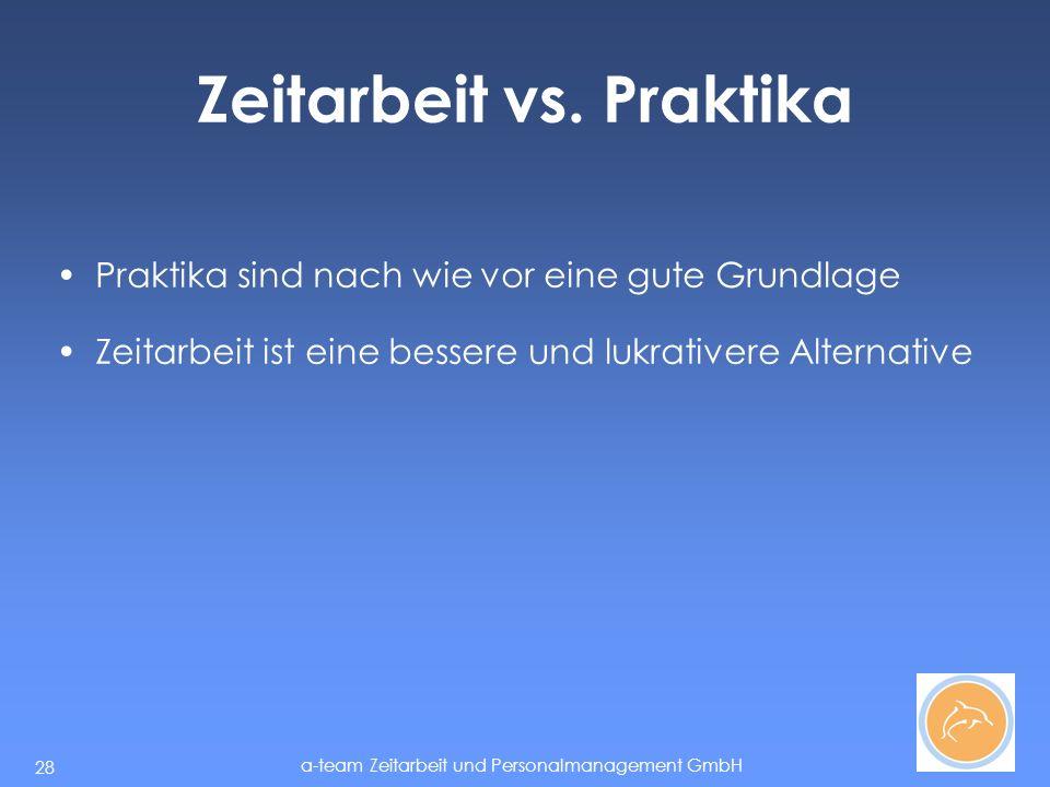 a-team Zeitarbeit und Personalmanagement GmbH 28 Zeitarbeit vs.