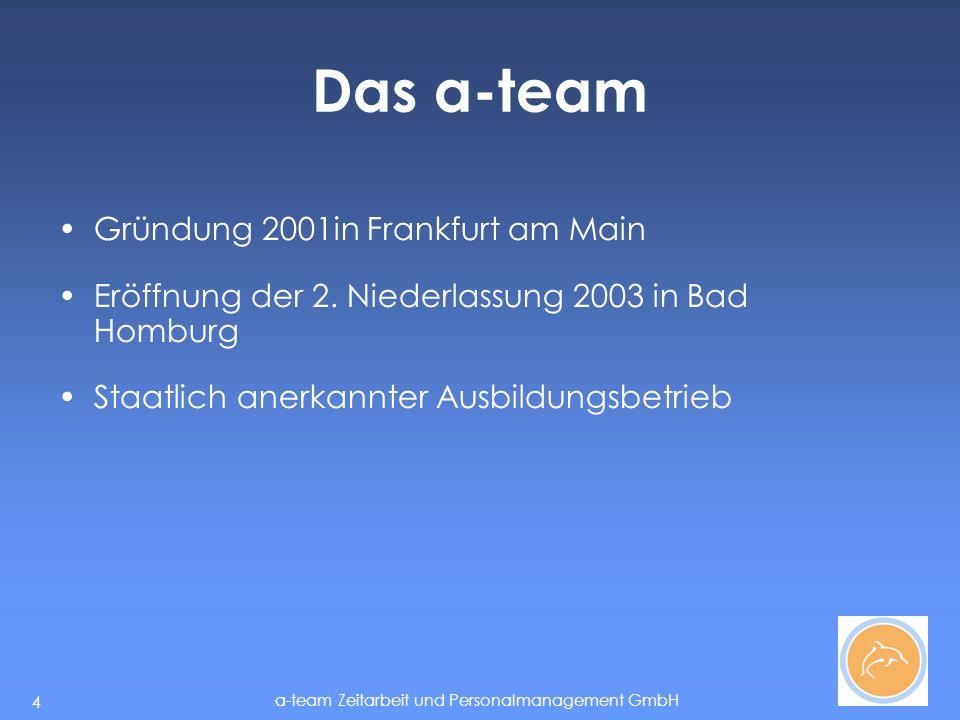 a-team Zeitarbeit und Personalmanagement GmbH 5 Das a-team in Bad Homburg Esther Hestert B.A.