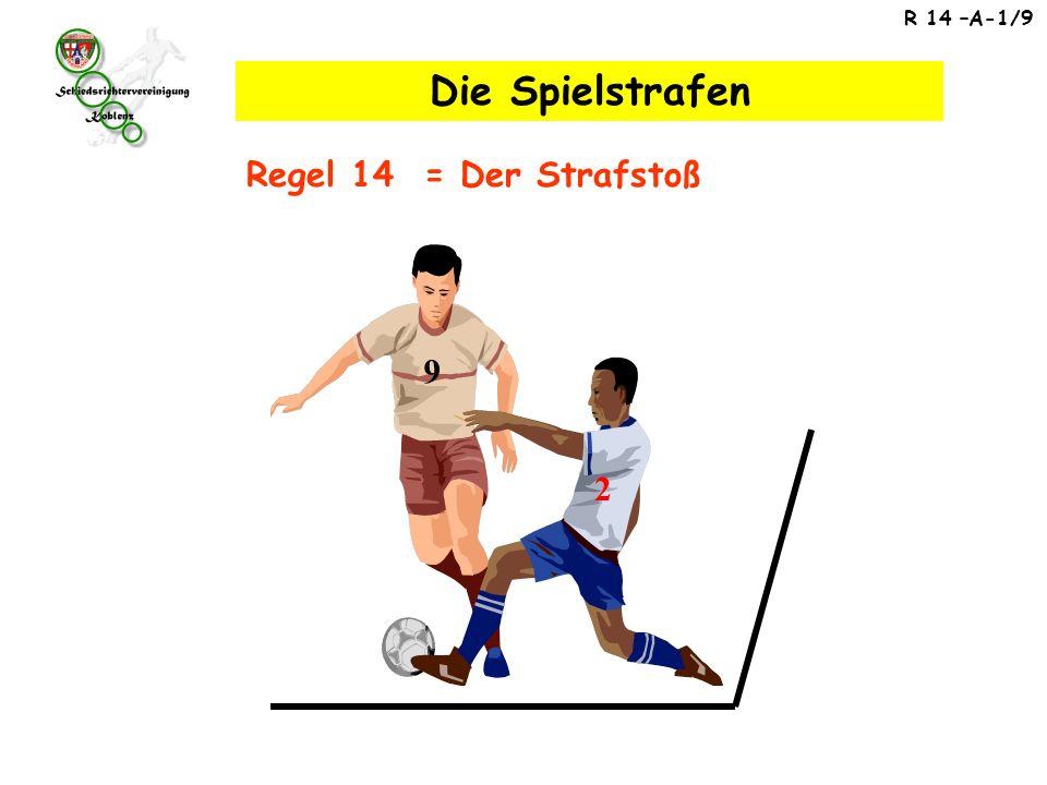 Regel 14 – Der Strafstoß 1.Strafstoß – die härteste Spielstrafe .