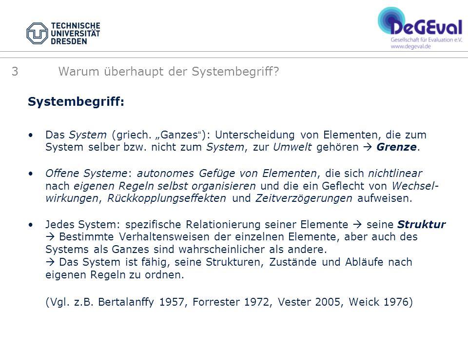Systembegriff: Das System (griech. Ganzes): Unterscheidung von Elementen, die zum System selber bzw. nicht zum System, zur Umwelt gehören Grenze. Offe
