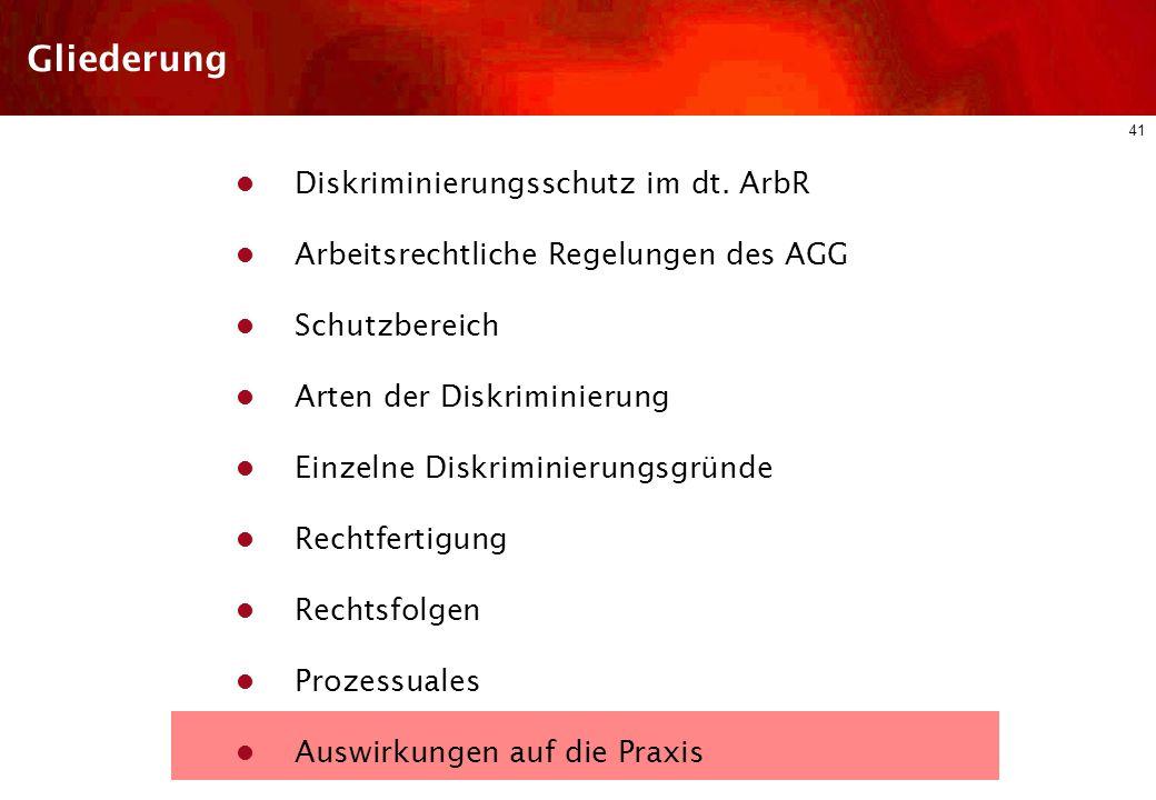40 Prozessuales B) Klagefrist (§ 61 b ArbGG) Klageerhebung nur innerhalb von 3 Monaten nach schriftlicher Geltendmachung gegenüber dem Arbeitgeber C)